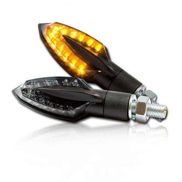individualisierbare led motorrad blinker sliver schwarz. Black Bedroom Furniture Sets. Home Design Ideas