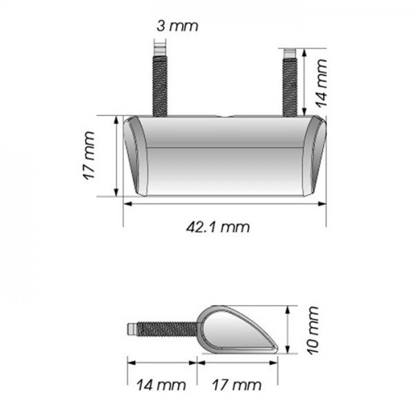 motorrad led kennzeichenbeleuchtung forty inkl befestigung. Black Bedroom Furniture Sets. Home Design Ideas